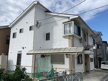 豊中市O様邸 外壁・屋根塗装、防水工事事例