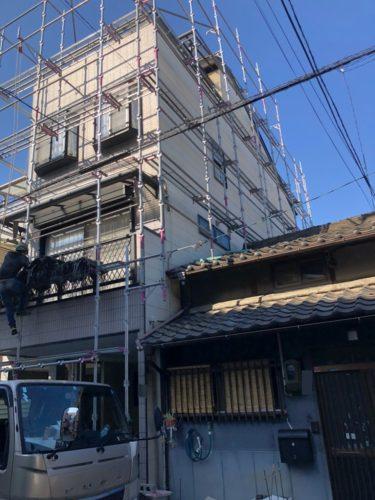 大阪市生野区N様邸 本日着工です!【外壁屋根塗装を生野区・東成区でするなら塗り替え専科今里】